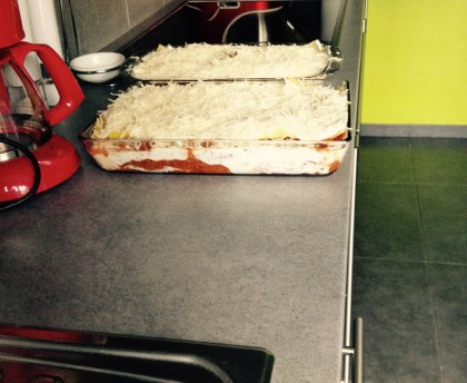 Elo's lasagna (with courgettes, beef and pork, and ricotta)