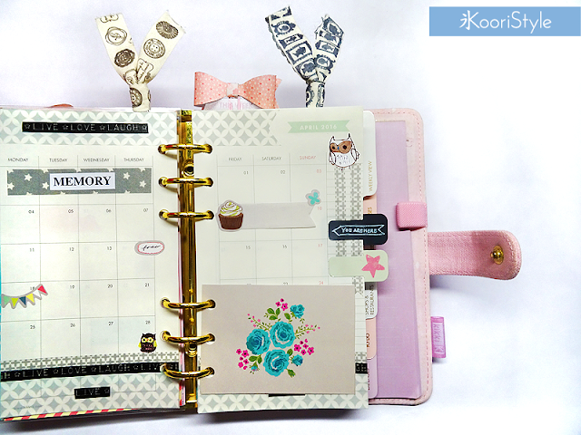 Tutorial, DIY, Handmade, Crafts, Kawaii, Cute, Paper, Koori Style, Koori Style, Koori, Style, Planner, Planning, Stationery, Deco, Decoration, Time Planner, Kikki K, Filofax, Washi, Deco, Tape, Weekly, Journal, Agenda, Stickers, Medium, Live Bright, Ring Planner, Plan With Me, Set Up, Sticky Note, Decoración, Planificador, 和紙テープ, プランナー, 플래너
