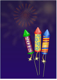 animated fireworks clipart free