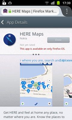 Firefox Marketplaceにβ版からもアクセス出来るようになった -7