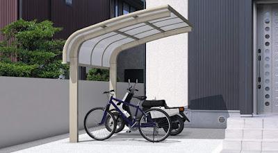サイクルポート 自転車 屋根 自宅