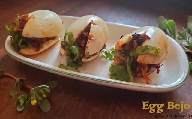 images of Egg Bejo / Burmese Egg Bejo / Atho Egg Masala /Egg Bejo Burmese Style Street Food
