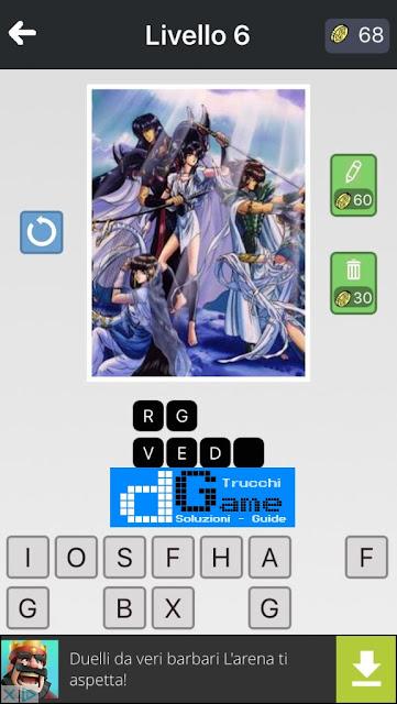 Anime Quiz soluzione pacchetto 6 livelli (1-12)