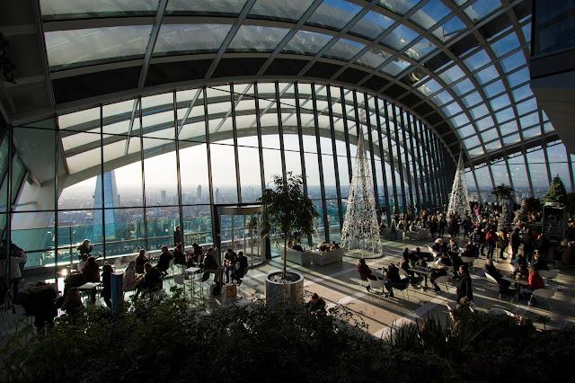 Interno dello Sky garden-Londra
