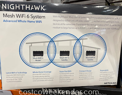 Costco 1407800 - Netgear Nighthawk Mesh WiFi 6 System: great for any home network
