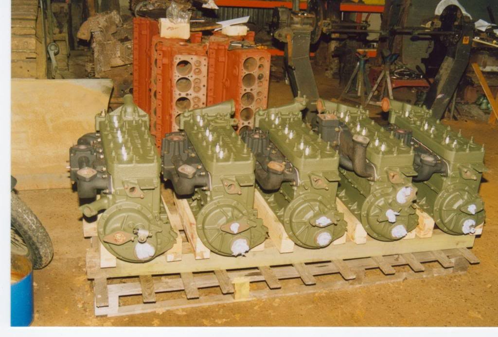 5 Six Cylinder Blocks Ready For Embly