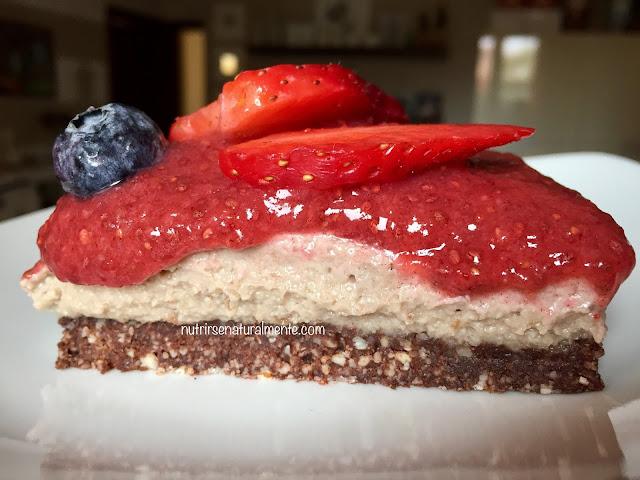 cheesecake crudivegana de anacardos