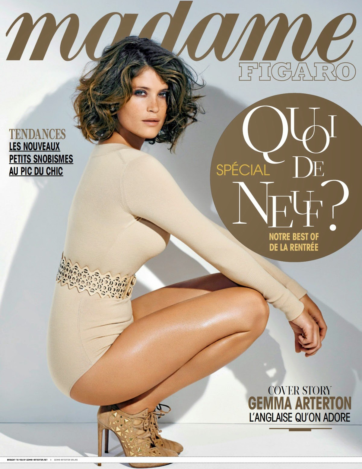 Gemma Arterton - Madame Figaro Magazine, France, August 2014