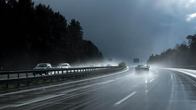 Pista molhada exige mais cuidados na rodovia