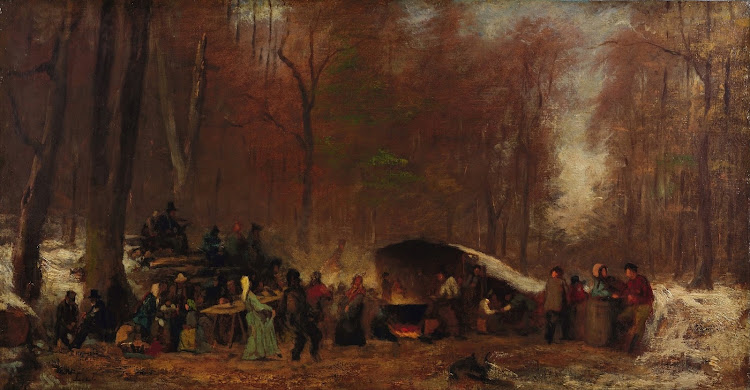 Eastman Johnson - A Different Sugaring Off (c.1865)