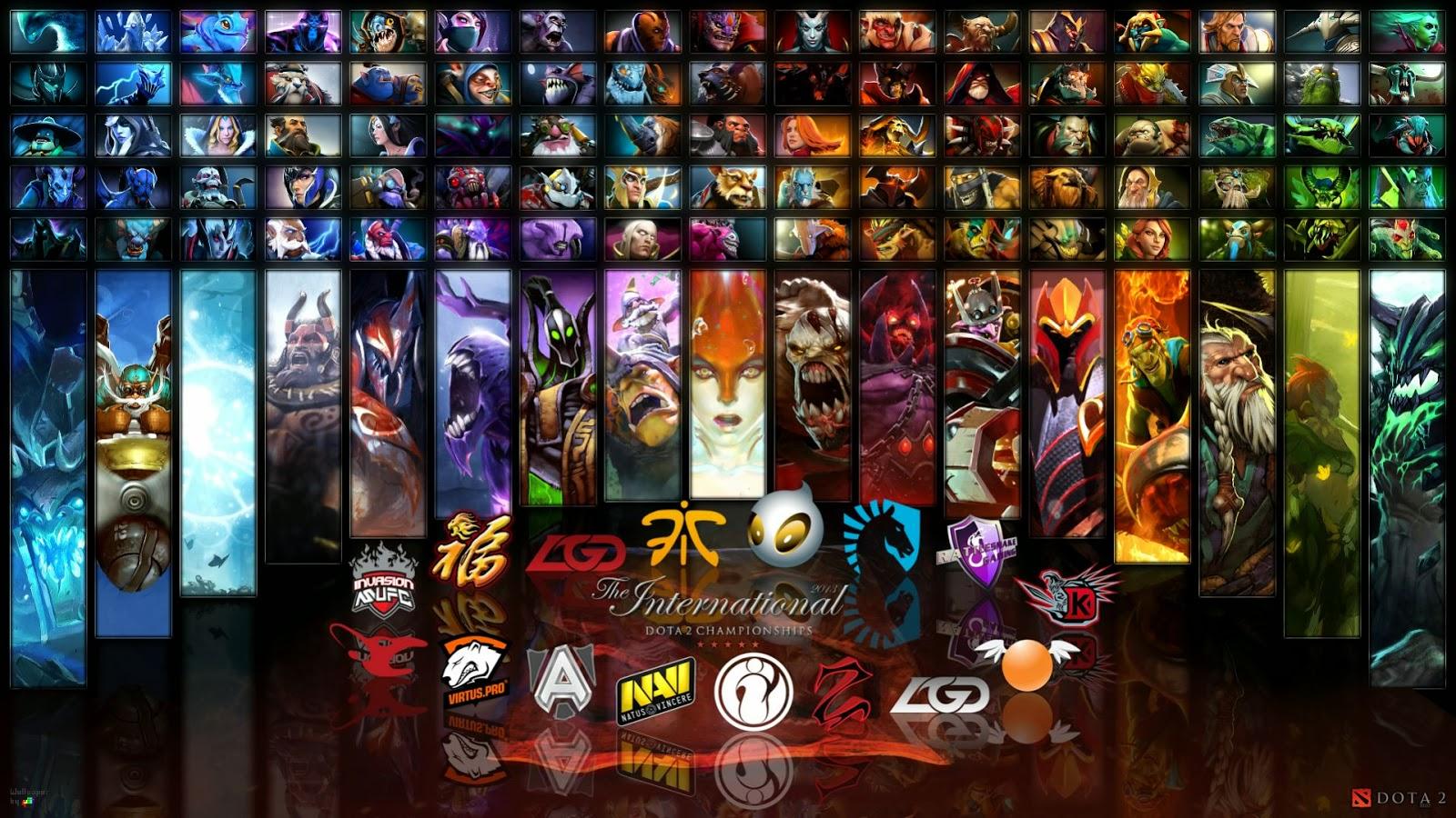 Dota 2 Wallpapers: Dota 2 Wallpaper - Heroes mix and teams