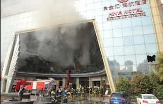 China hotel catches fire killing 10 people