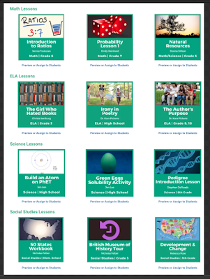 A Good Resource Featuring Tons of Pre-made Lessons to Use in Your (online) Teaching