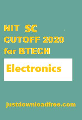 NITs ECE SC CUTOFF 2020 for BTECH