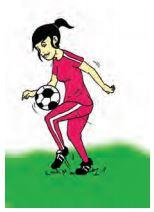Gambar Mengontrol Bola : gambar, mengontrol, Analisis, Keterampilan, Gerak, Mengontrol, Menggunakan, Telapak, Kaki,, Punggung, Dada,, Perut