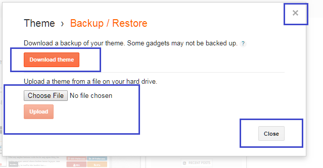 Blogger Theme Upload And Beckup