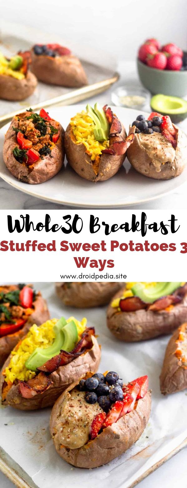 Whole30 Breakfast Stuffed Sweet Potatoes 3 Ways #whole30 #breakfast #stuffed #sweet #potatoes #3ways #summer
