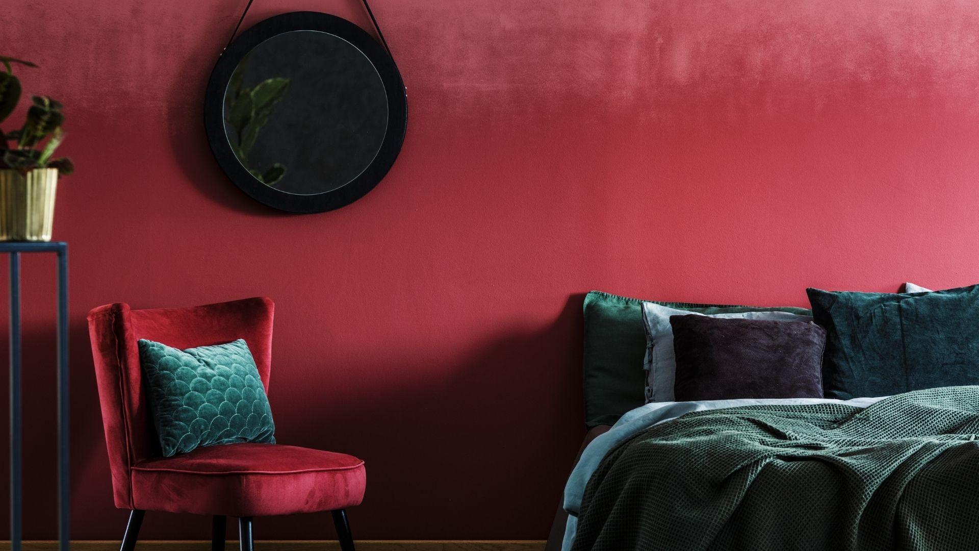 czerwona sypialnia inspiracje