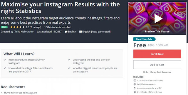 [100% Off] Maximise your Instagram Results with the right Statistics| Worth 200$