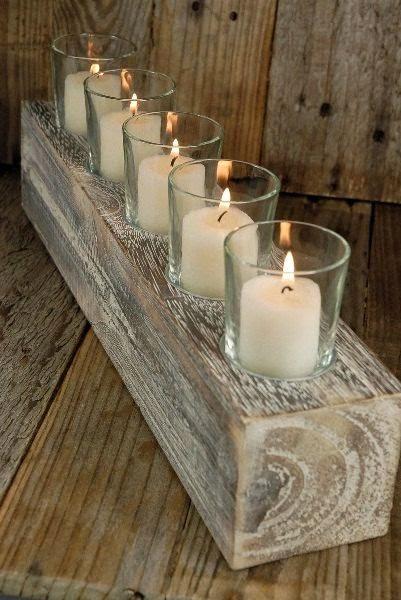 31 centros de mesa para boda con velas todo inspiraci n - Jarrones rusticos ...