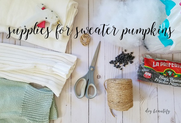 supplies needed to make sweater pumpkins