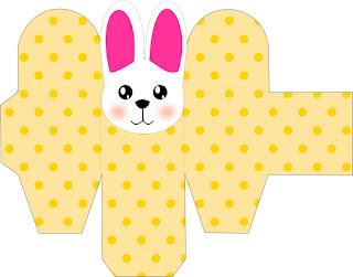 Cajas con Conejito para Pascua para Descargar Gratis.