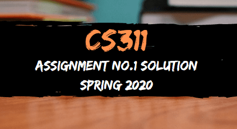 cs311 assignment