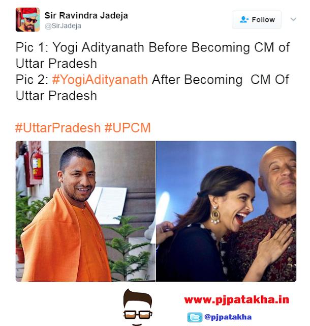 Funny Tweets on Yogi Adityanath