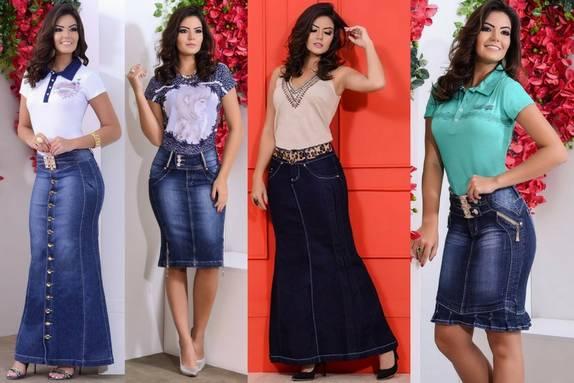 Saias Jeans Lana Jeans