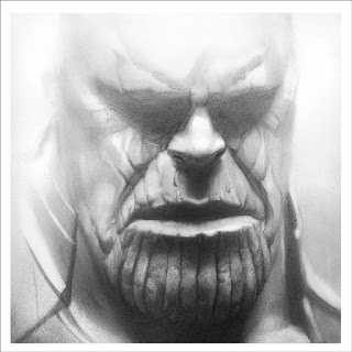 San Diego Comic-Con 2019 Exclusive Thanos Screen Print by Greg Ruth x Mondo x Marvel