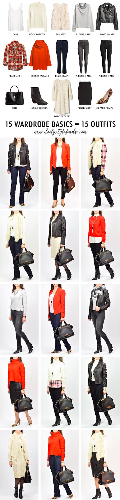 wardrobe staples, fur vest, black skinny jeans