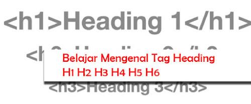 Belajar Mengenal Tag Heading H1 H2 H3 H4 H5 H6