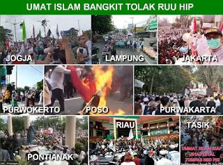 Jaga Pancasila, Umat Islam Berbagai Pelosok Tanah Air Bangkit Serentak TOLAK RUU HIP