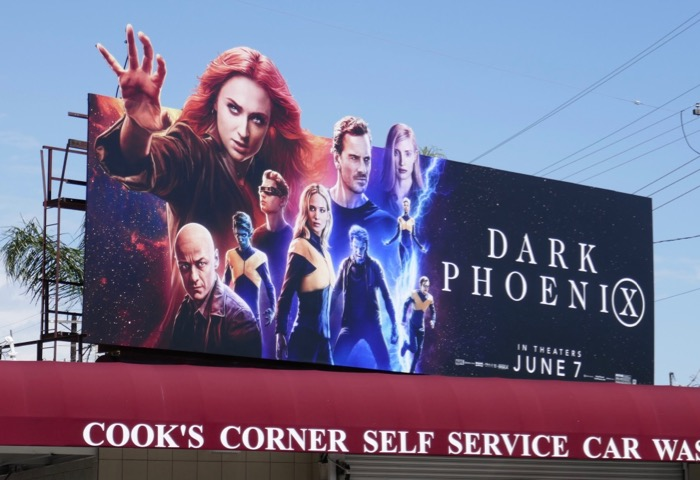 Dark Phoenix extension cut-out billboard