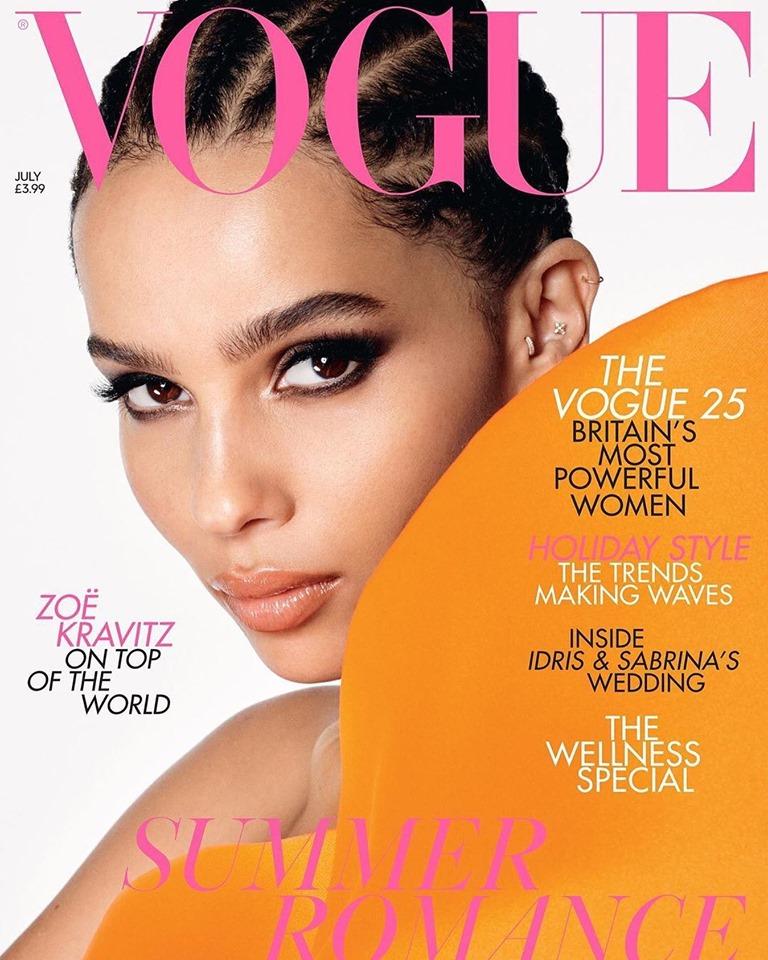 Zoe Kravitz poses for Vogue UK July 2019