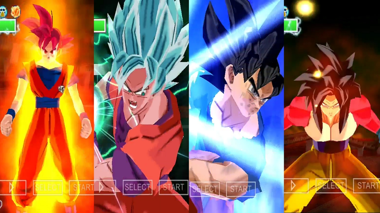Dragon Ball Super Goku All Forms Transformations