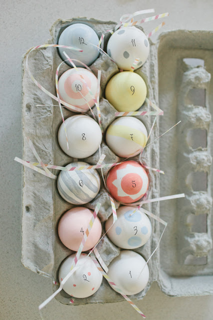 easter eggs diy advent calendar