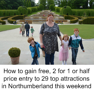 How to gain free, 2 for 1 or half price entry to 29 top attractions in Northumberland this weekend with Resident's Festival