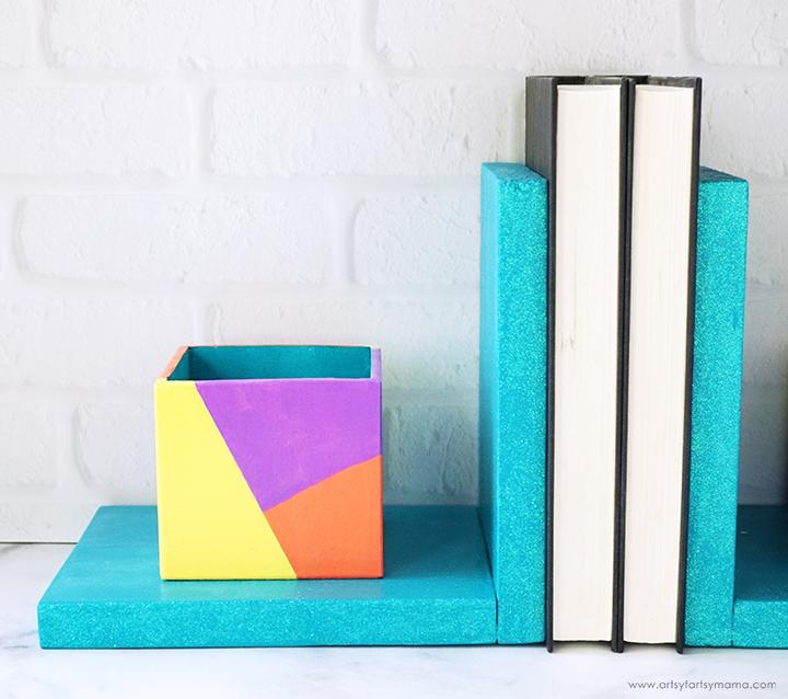 DIY Organizer Bookends
