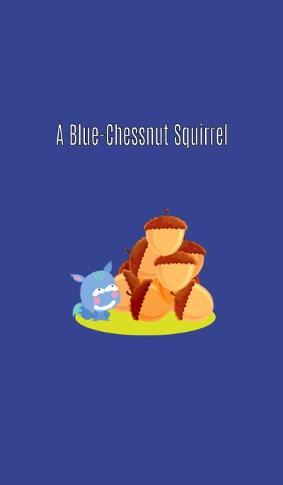 A Blue-Chessnut Squirrel