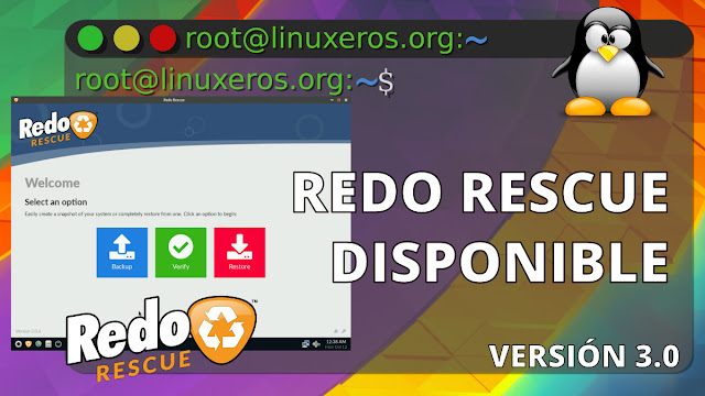 Disponible Redo Rescue 3.0 basada en Debian Buster
