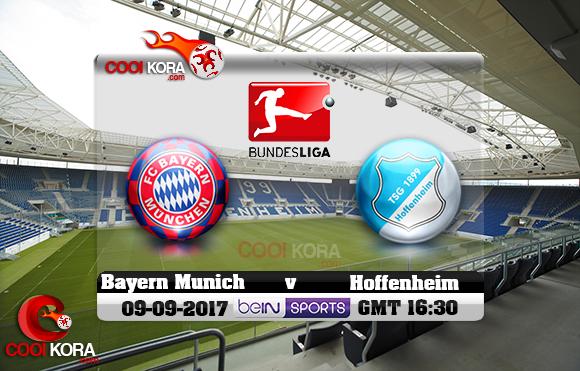 مشاهدة مباراة هوفنهايم وبايرن ميونخ اليوم 9-9-2017 في الدوري الألماني