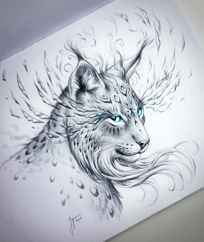 13-Lynx-Jonas-Jödicke-jojoesart-Fantasy-Animal-Drawings-with-Souls-of-Nature-www-designstack-co