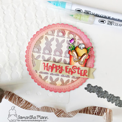 Happy Easter Card by Samantha Mann, Rainbow, Distress Inks, Heat Embossing, Die Cuts, Sequins, Easter Card, #cards #easter #handmadecards #distressinks #rainbow