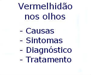 Vermelhidão nos olhos causas sintomas diagnóstico tratamento prevenção riscos complicações