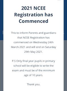 Common entrance form 2021