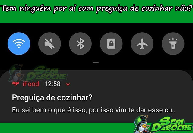 PREGUIÇA DE COZINHAR
