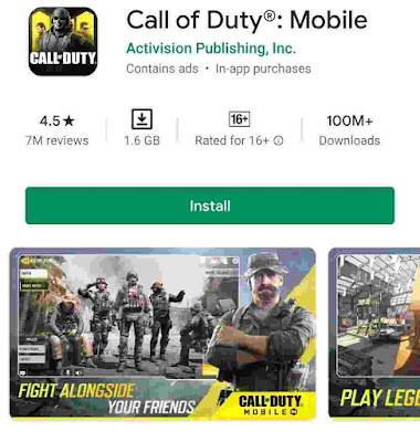 3. Call Of Duty Mobile