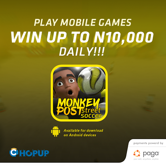 ChopUp to Launch Africa's First Mobile e-sports Platform in Collaboration with Paga for in-app Payments
