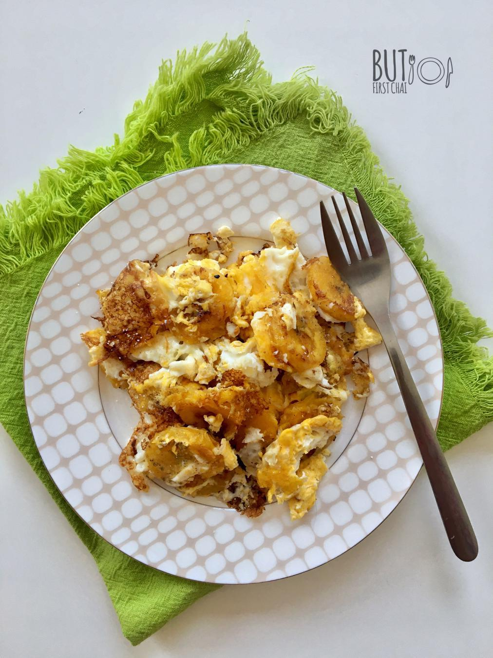 Kai Vatiyathu | Pan Roasted Ripe Plantains with Eggs